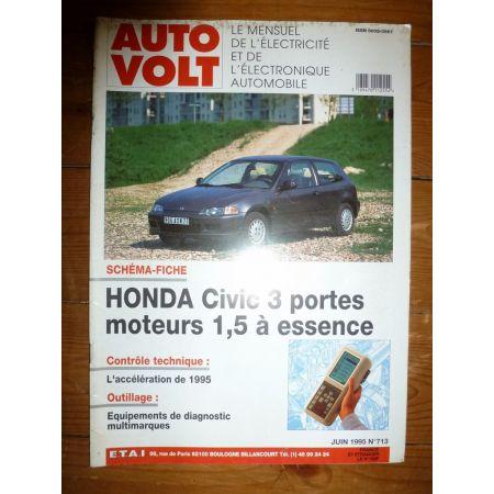 Civic 1.5 Ess Revue Technique Electronic Auto Volt Honda