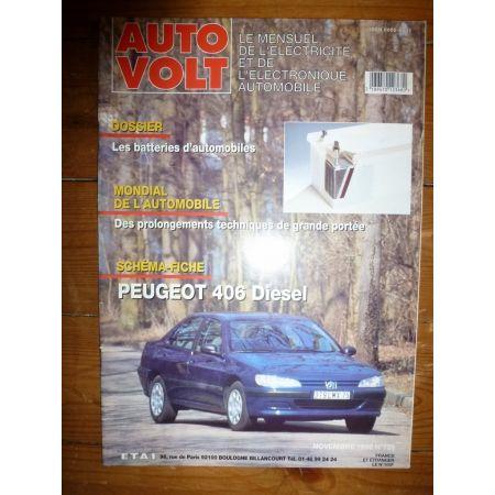 406 Die Revue Technique Electronic Auto Volt Peugeot