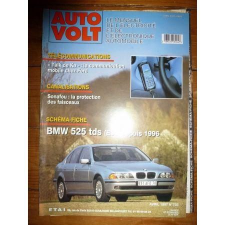 525TDS 96- Revue Technique Electronic Auto Volt Bmw