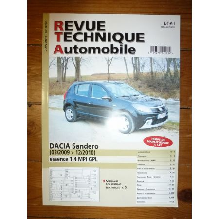 Sandero Revue Technique Dacia