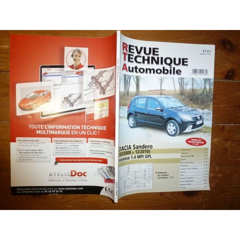 rta revues technique automobile dacia sandero essence mpi gpl. Black Bedroom Furniture Sets. Home Design Ideas