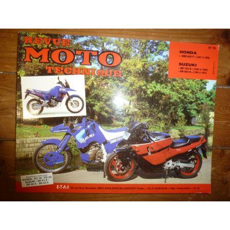 DR750 800 CBR600F Revue Technique moto Honda Suzuki