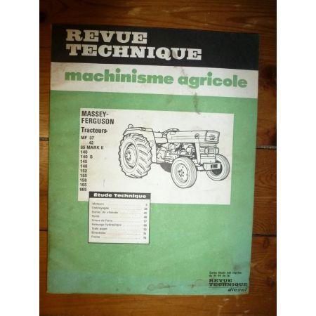 MF37 au MF 865 Revue Technique Agricole Massey Ferguson