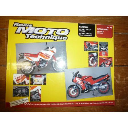 GPX750R XTZ600 Revue Technique moto Kawasaki Yamaha