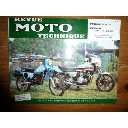 80TXE TLX Z1000J Revue Technique moto Kawasaki Peugeot