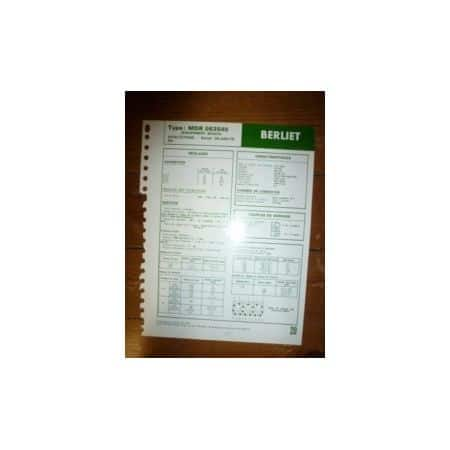 MDR 063540 (Bosch) Fiche Technique Berliet