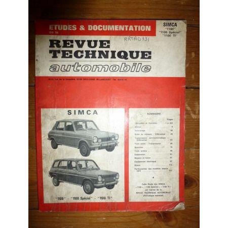 1100 Special TI Revue Technique Simca Talbot