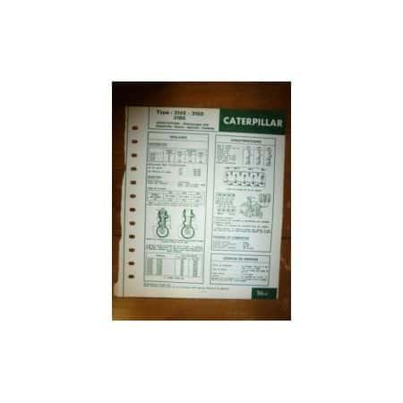 3145-3150-3160 Fiche Technique Caterpillar