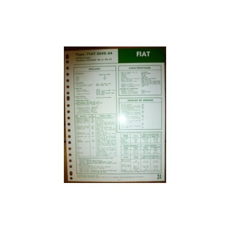 8045-04 Fiche Technique Fiat Someca