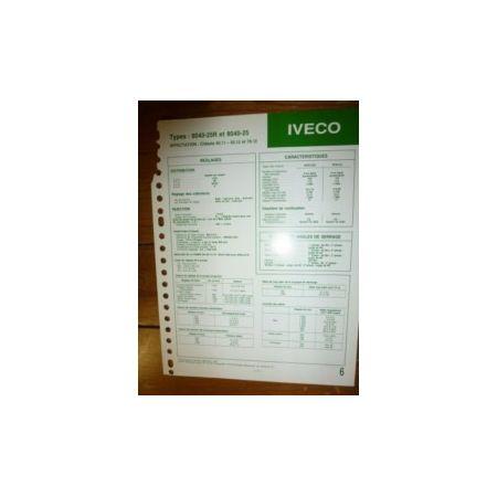 8040-25R - 8040-25 Fiche Technique Iveco