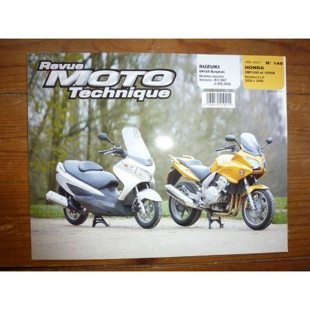 CBF1000 UH125 Burgman Revue Technique moto Honda Suzuki