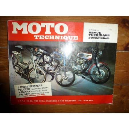 101 102 125 T6 TR6 Revue Technique moto Peugeot Triumph Yamaha