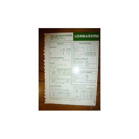 LDA-LDAL 672-673-674 Fiche Technique Lombardini