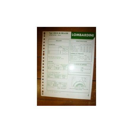LDA 91-96-100-820 Fiche Technique Lombardini