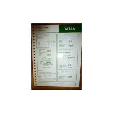 928-1 Fiche Technique Tatra