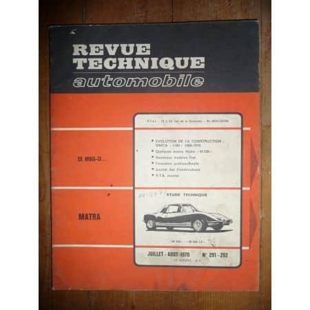 M530 Revue Technique Matra Simca