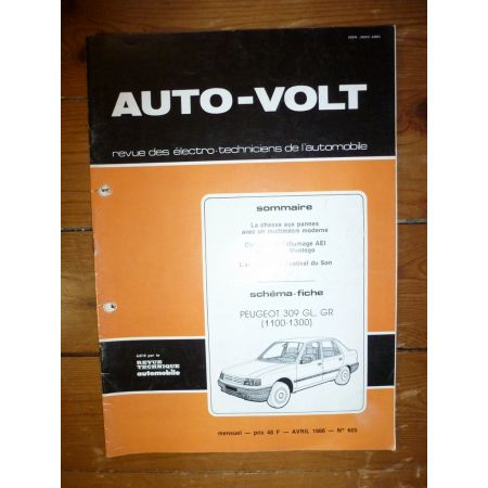 309 GL GR Revue Technique Electronic Auto Volt Peugeot