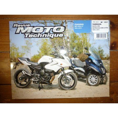 MP3 400ie XJ6 Diversion Revue Technique moto Piaggio Yamaha