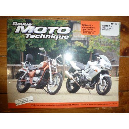 VTR1000 RS125 ETX Revue Technique moto Aprilia Honda