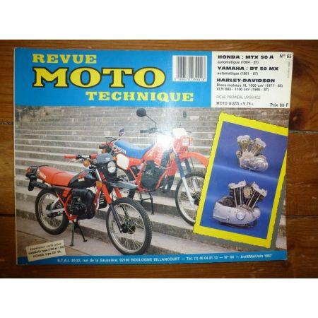 MTX50 DTMX50 XL1000 Revue Technique moto Harley Davidson Honda Yamaha