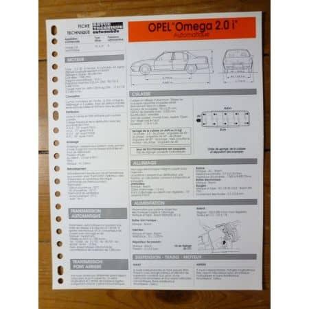 Omega 2.0i Auto Fiche Technique Opel