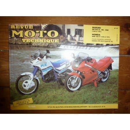 DR650 VFR750F Revue Technique moto Honda Suzuki