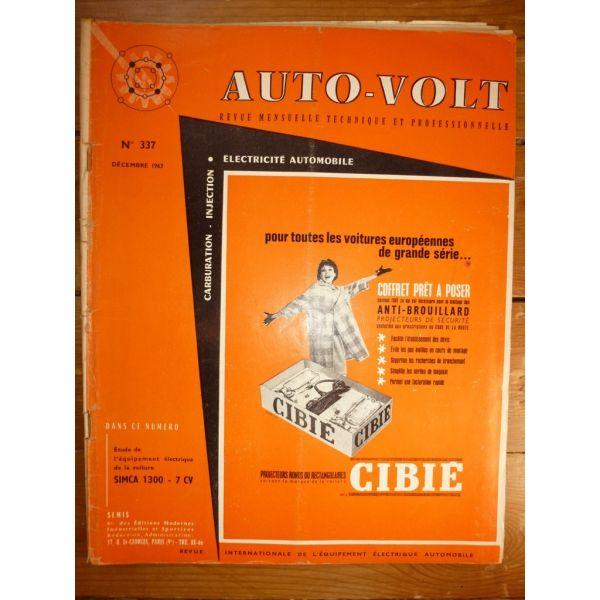1300 7cv Revue Technique Electronic Auto Volt Talbot Simca