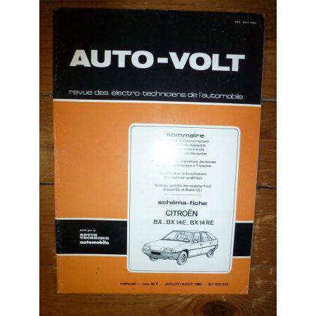 BX 14 Revue Technique Electronic Auto Volt Citroen