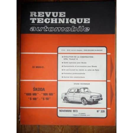1000 1100 S100 S110 Revue Technique Skoda