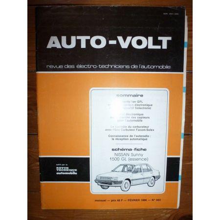 Sunny 1.5 Ess Revue Technique Electronic Auto Volt Nissan