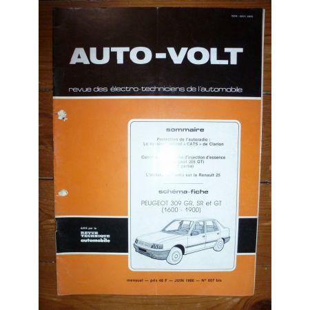 309 Gr Sr Gt Revue Technique Electronic Auto Volt Peugeot