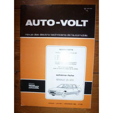 R25 GTX Revue Technique Electronic Auto Volt Renault
