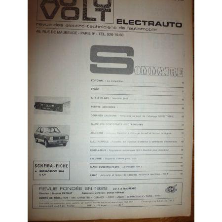 104 5cv Revue Technique Electronic Auto Volt Peugeot