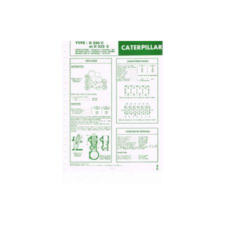 D330C-D333C Fiche Technique Caterpillar