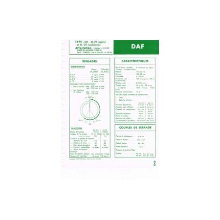DD575-DS575 Fiche Technique Daf