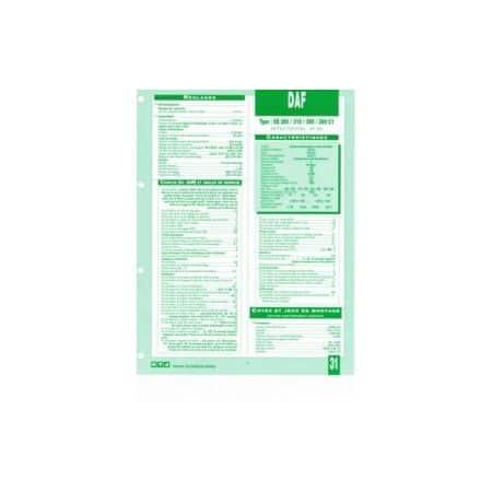 XE 280-315-355-390 C1 Fiche Technique Daf