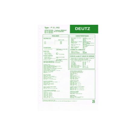 F3L 912 Fiche Technique Deutz