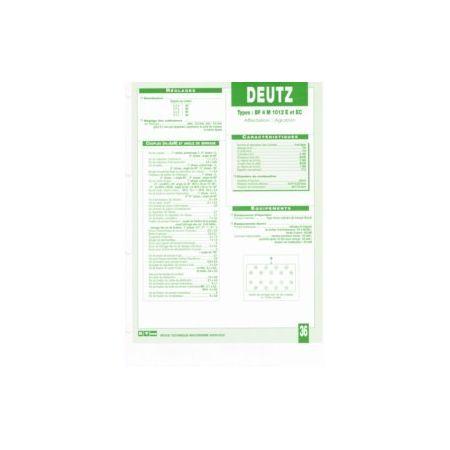 BF4M 1012 E-EC Fiche Technique Deutz
