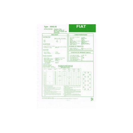 8045.05 Fiche Technique Fiat Someca