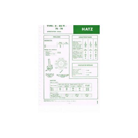 E-ES 71-75-79 Fiche Technique Hatz