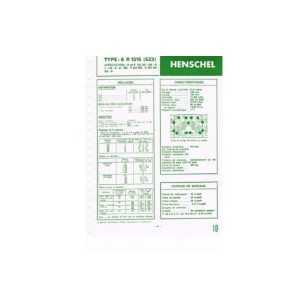 6R1315-523 Fiche Technique Henschel