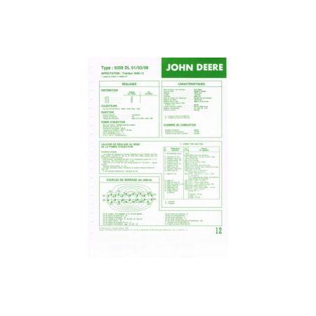 6359 DL 01/03/06 Fiche Technique John Deere