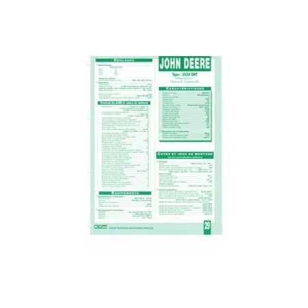 3029 DRT Fiche Technique John Deere