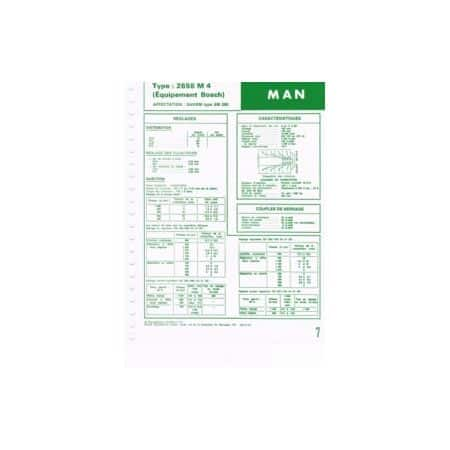 2658 M4 - Bosh Fiche Technique Man