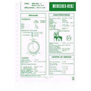 mercedes benz 190d et 190db type om621 1 moteur 621 910. Black Bedroom Furniture Sets. Home Design Ideas