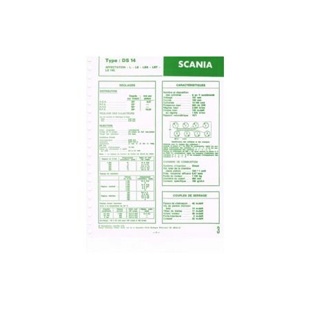 DS14 Fiche Technique Scania