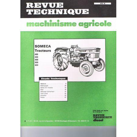 Agriculture Revue Technique Tracteur Fiat Someca 780 Moteur 8045-04 2 Et 4 Roues Dt