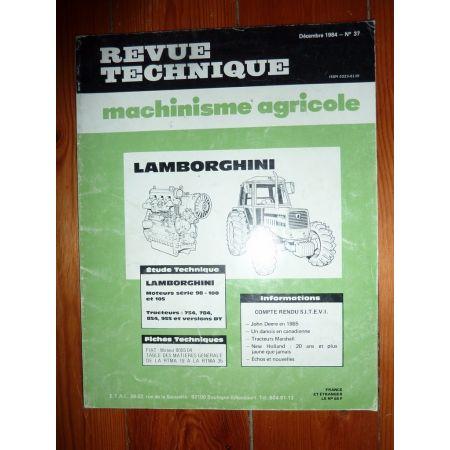 754 784 854 955 Revue Technique Agricole Lamborghini