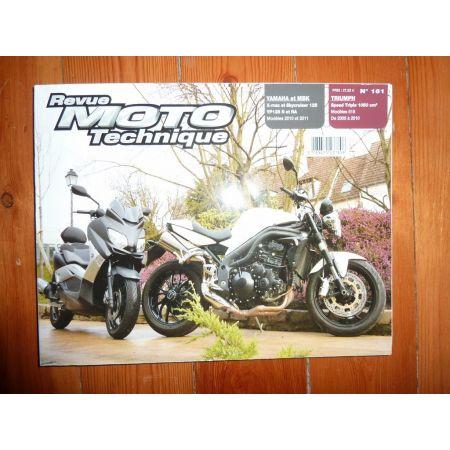 Speed Triple X Max YP125R Revue Technique moto Mbk et Triumph Yamaha