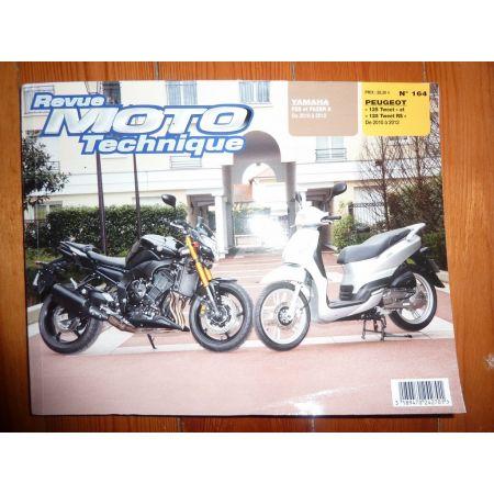 Fazer 8 125 Tweet Revue Technique moto Peugeot Yamaha